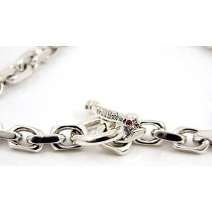skull clasp chain necklace