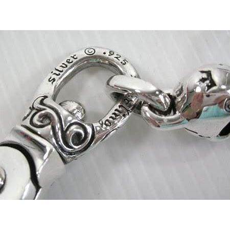 Sterling Silver Skull Gothic Key Chain