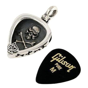 skull guitar pick holder pendant