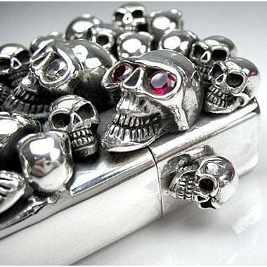 sterling silver lighter skull jewelry