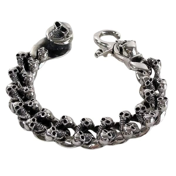 heavy skull bracelet for men