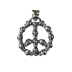 Gothhic Peace sign pendant