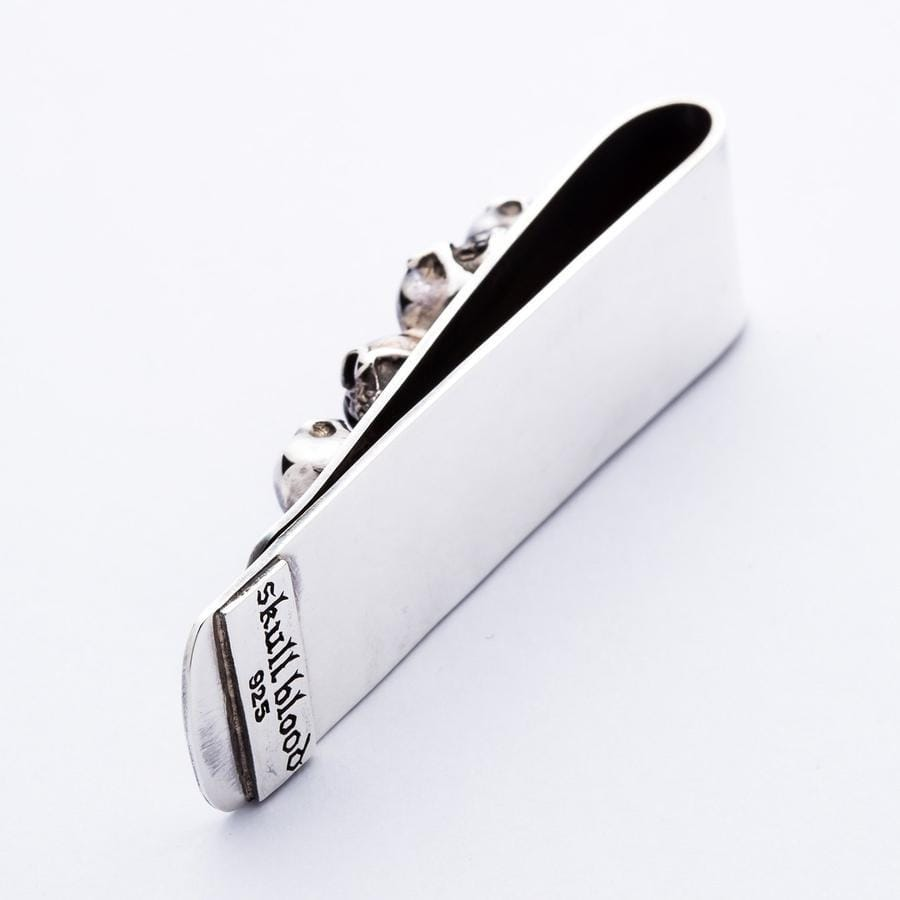Skull Sterling Silver Biker Money Clip