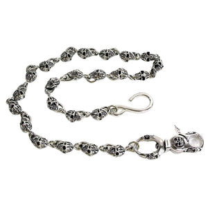 skull silver chain for wallet