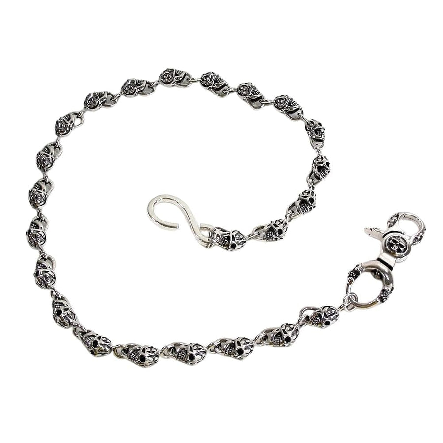 skull sterling silver wallet chain
