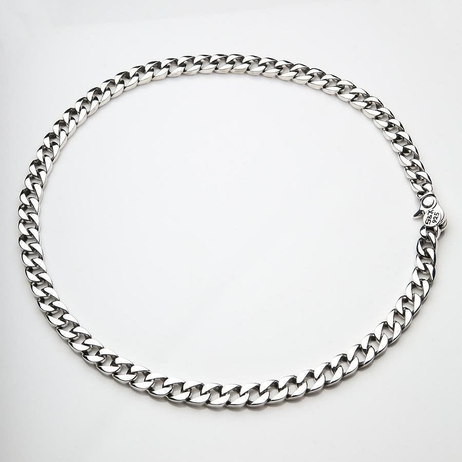 Small Sterling Silver Figaro Cuban Necklace