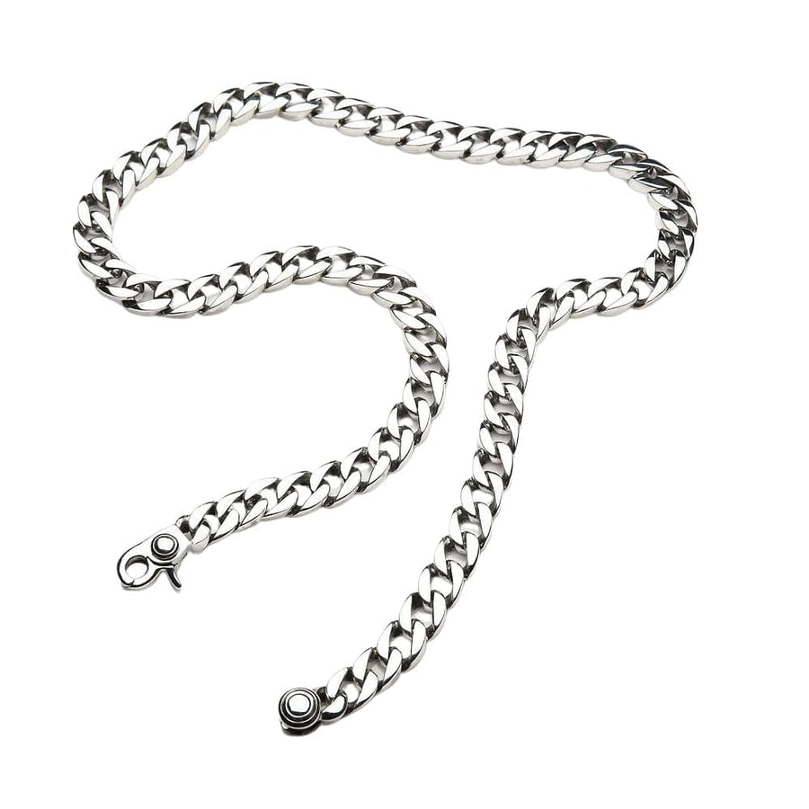 sterling silver small cuban link chain necklace
