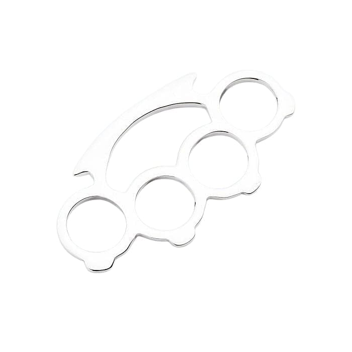 sterling silver small knuckle duster pendant