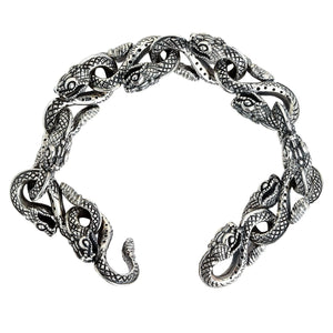 sterling silfur snake head armband