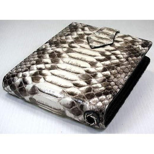 snake leather wallet for chain