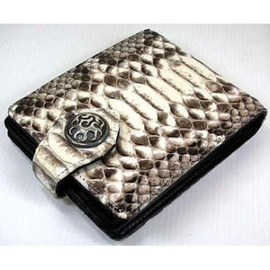 snake leather chain wallet