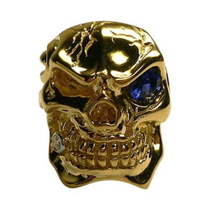 Solid 14K Gold Skull Ring