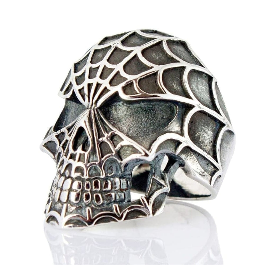 sterling silver spiderman ring