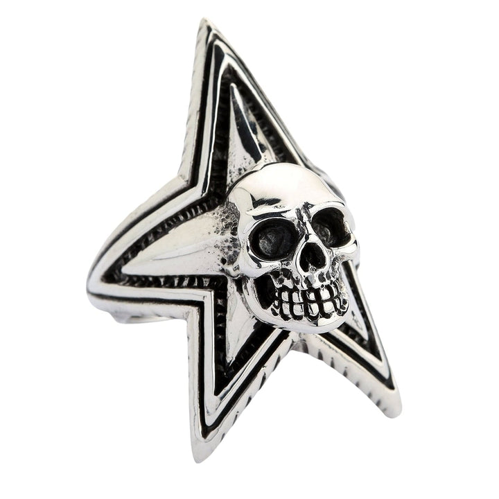 Sterling Silver Star Skull Rings