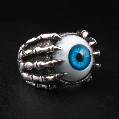Sterling Silver Blue Eyeball Ring