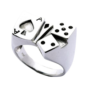 silver ace ring
