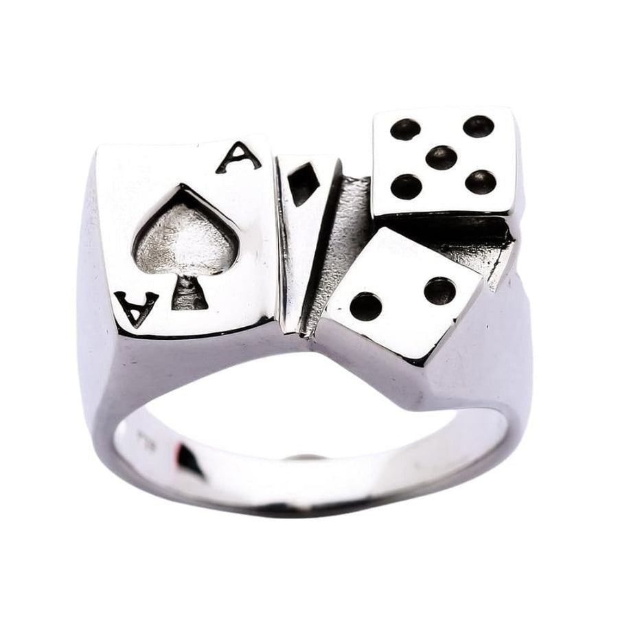 card silver ring