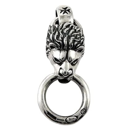 sterling silver lion head pendant