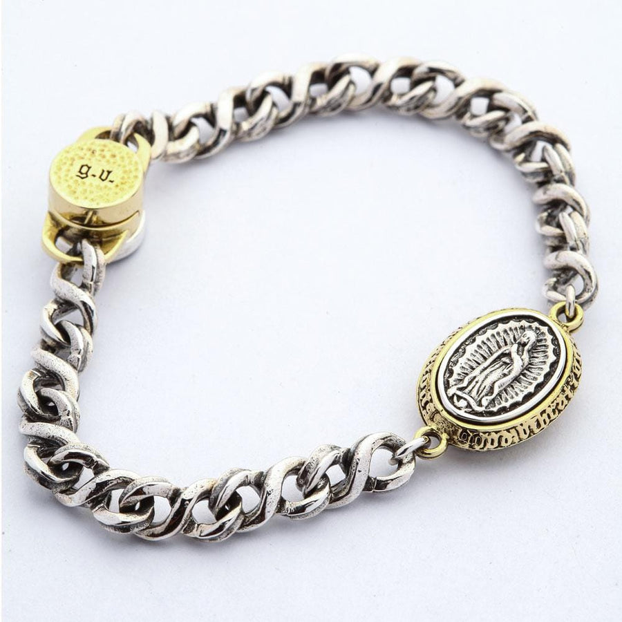 sterling silver mary women's bracelet
