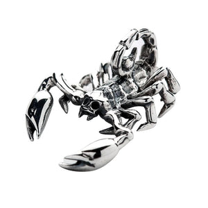 sterling silver scorpion pendant