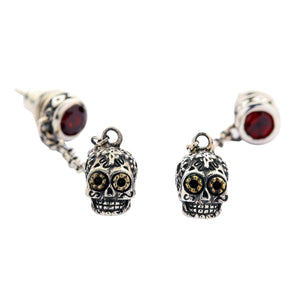 Sugar Skull Dangle Oorbellen
