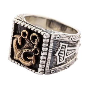 anello in argento sterling martello di thor