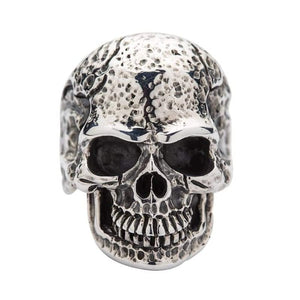 tough men skull silver ring