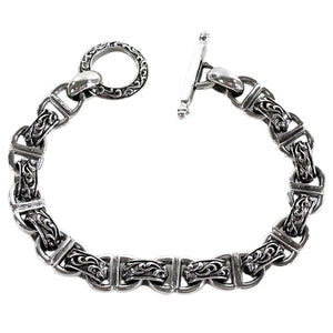 sterling silver tribal armband