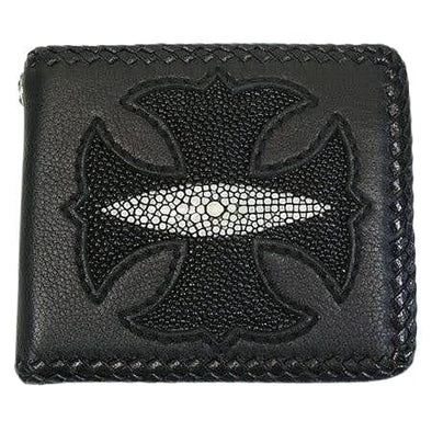 Stingray Leather Biker Wallet