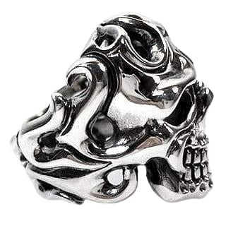 Sterling silver tattoos skull ring