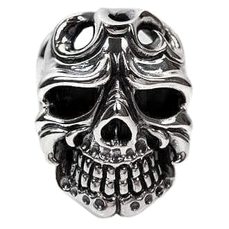 sterling silver skull tattoo ring