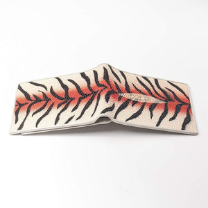 tiger design stingray leather wallet
