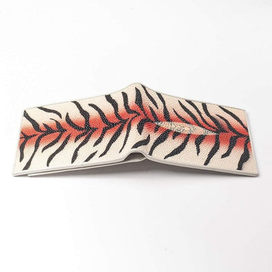 Tiger Design Stingray Skin Leather Wallet