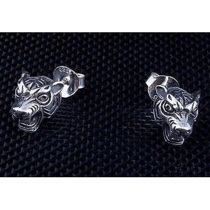 925 Sterling Silber Tiger Ohrringe