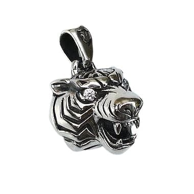 diamond eyes men's tiger pendant