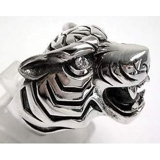 Sterling Silver Mens Tiger Rings