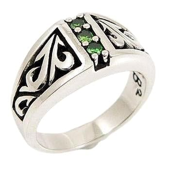 tribal emerald ring