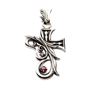 sterling silver gothic cross pendant