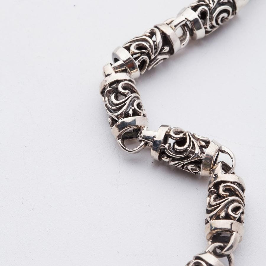 Tribal Roller Sterling Silver Wallet Chain