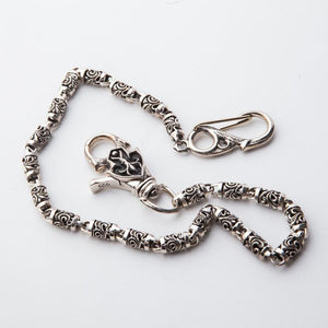 custom silver biker wallet chain