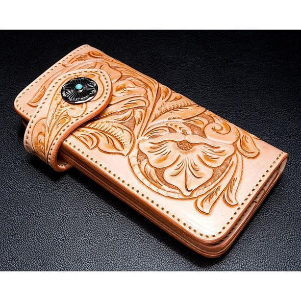 Turquoise Concho Biker Wallet