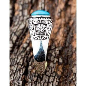 Ethnic Turquoise Sterling Silver Rings