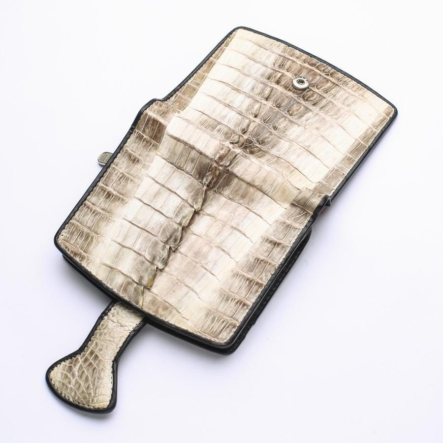 Twotone Crocodile Tail Skin Womens Wallets