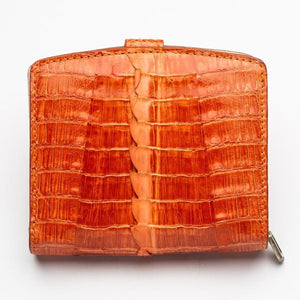Twotone Orange Crocodile Skin Womens Wallets