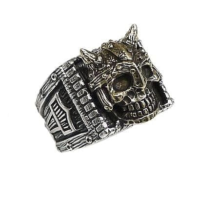 skull viking warrior ring