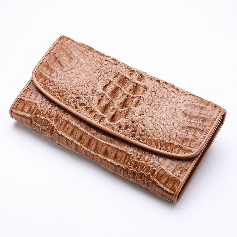 real crocodile leather women's purse
