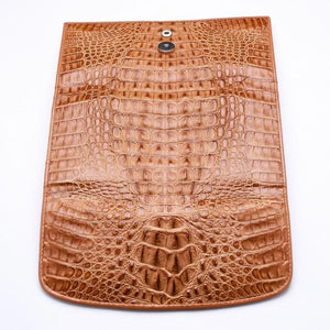 trifold long crocodile ladies wallet