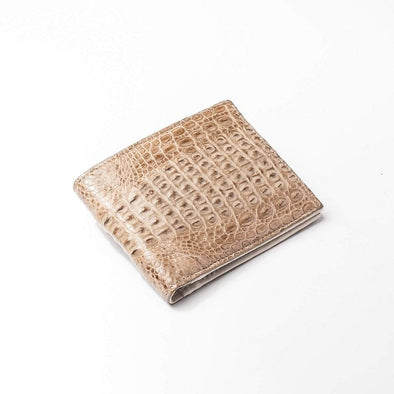 Vintage Crocodile Tail Leather Mens Wallets