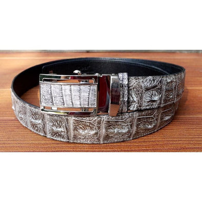 Vintage Grey Genuine Crocodile Belt