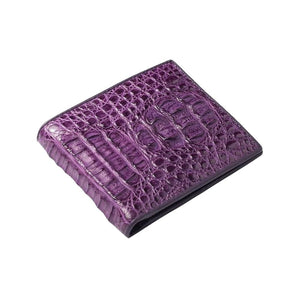 violet crocodile alligator wallet for men